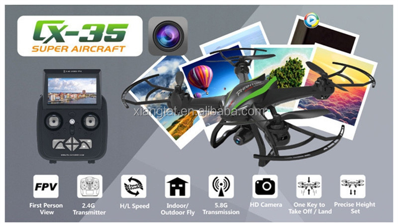 Original Real Cheerson CX-35 CX35 5.8G 500M FPV With 2MP Wide Angle HD Camera Gimbal High Hold Mode RC Quadcopter Drone