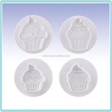plastic cookie cutter cupcakes