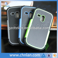 Top quality football design for samsung hybrid cellphone case s3 mini