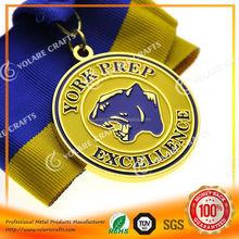 High Relief custom dance medals gold silver bronze
