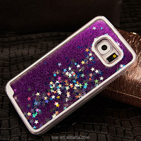 Bling Sparkle Glitter Stars Dynamic Liquid Quicksand Clear Plastic Case for Samsung Galaxy S6 s5 s4