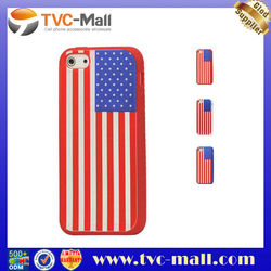 """For iPhone 5"""" Case,American Flag Silicone Case Cover for iPhone 5"""