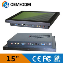 """Black 15"""" industrial computers with Intel D525 2G RAM 32G SSD with 3G in stock"""