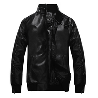 GSWT145 European Fashion Style PU Leather Motorcycle Jacket For Man