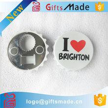 Promotion hot wholesale tin bottle opener fridge magnet bottle opener souvenir