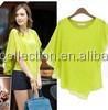 2015 Fashion Ladies Stylish Lace Batwing Loose Top / T-Shirt Size 8-16