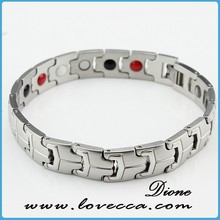 Silver color stainless steel energy bracelet 2015 Popular design ion , far , germanium magnetic 316L healing energy bangle