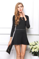 Cheap Long Sleeve Casual Cotton Girls Dresses LY1015