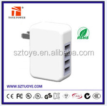 Wall Mount Interchangeable Power Adapter Universal Travel Adapter Multi Plug AC Adapter
