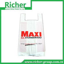 High Density Polyethylene T Shirt Bags with Custom Printing Wholesale