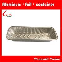 Large Narrow Disposable Rectangular Aluminium Foil Food Packing Container