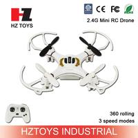 13CM Mini toys 2.4G 4ch 6 axis gyro pocket nano rc drone with lights.