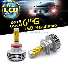 All in one no fan design H13/H8/H4/H7/9006/9005 LED car headlight 2years warranty for car&motorcycle conversion headlight kit.