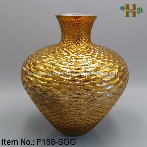 oro y rojo recubierto decoracin jarrones decorativos de gran tamao