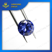 Cinia factory cubic zirconia manufacturer man made faceted cut tanzanite rough