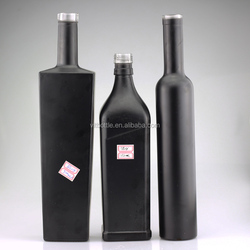 New design glass bottle wholesale black glass bottle vodka 750ml glass bottle