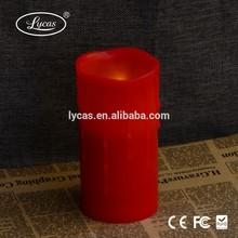 colore rosso candela per la chiesa candela colorata led a lume di candela senza fiamma