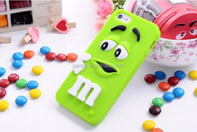 Soft silicone M&M Chocolate Case For iphone6 plus 6 5 5s 4 4s M Rainbow Beans case cover For iphone