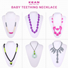 Silicone Teething Nursing Breastfeeding Necklace Chew Bead baby chew jewelry