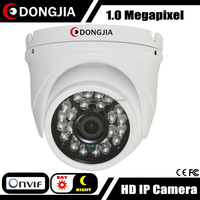 DONGJIA DJ-IPC-HD3129HD 3.6mm lens vandalproof dome 1.0MP web pc cameras