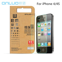 Adhesive stained anti-shock glass tempered screen protector for iphone 6 with best quality