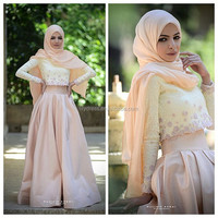Latest Design Floor Length Custom Made Formal Long Evening Party Wear Robe ED456 muslim women dress pictures