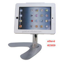 display lock holder for iPad/ restaurant menu order bracket/ tablet desktop stand/ secure mount on hotel counter eStand