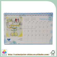 china cheap custom desk calendar with stand wholesale printing