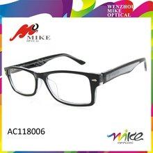 Nero occhiali di plastica, occhiali, 2015 montature da vista di moda la cina