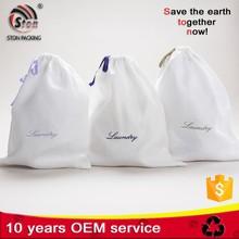 Customized Foldable Drawstring Nylon polyester laundry bag for hotel