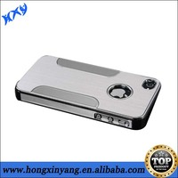 Brushed electroplate chrome hard plastic cell phone cases for iphone 5/5s