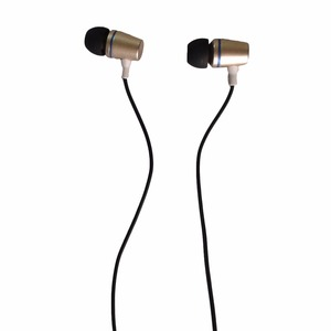 Muestras Gratis Deep Bass Sound metal forma de la bala del oro fresco de moda auriculares baratos