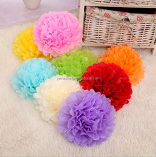 Manufactory wholesale cheap marriage pompon, tissue flower ball hanging with strings