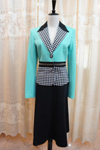 Ladies office uniform skirt suit AS112#
