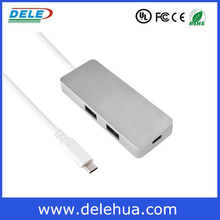 USB 3.1 TYPE C usb 3.0 HUB with 100M RJ45 ethernet LAN adapter forApple Macbook Air made in china