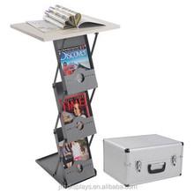 Metal Literature Rack Display Holder Stand ,Brochure holder table