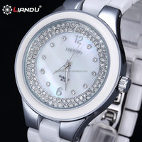 Couple models look ceramic band crystal quartz watch luxury brand watches Longbo banquet Watch