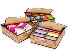 Popular Eco-Friendly 3 Pieces/1 Set Foldable Storage Box For Bra,Towel,Underwear,Socks,Scarf,Organizer