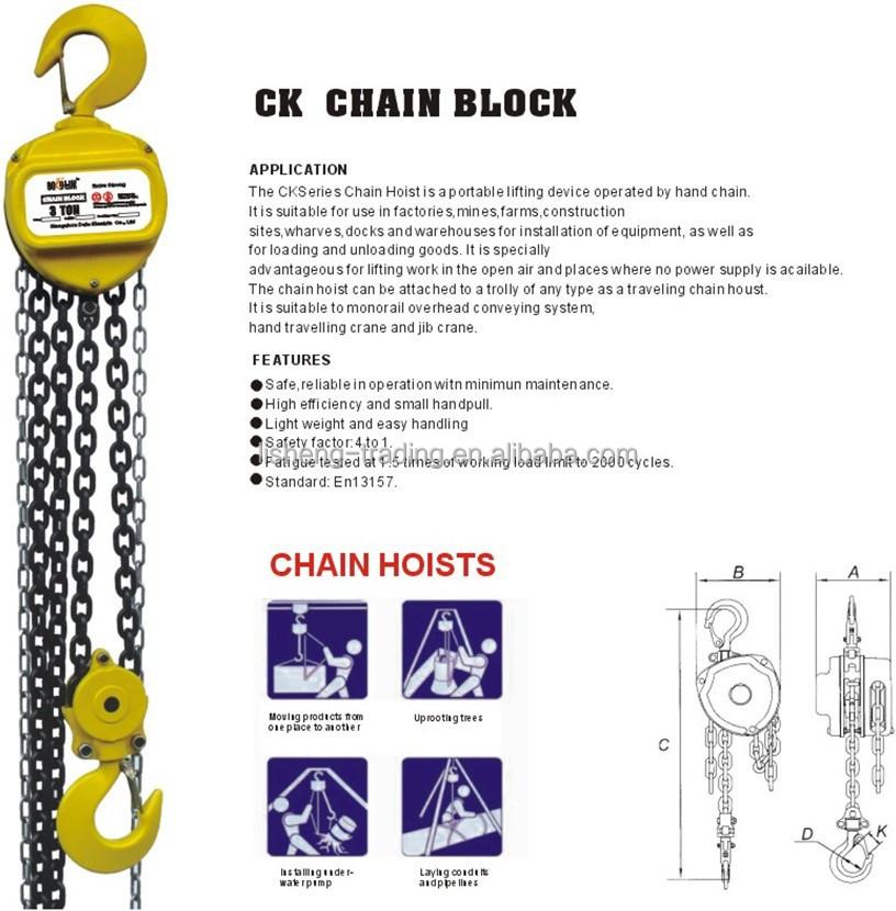 5 Ton bloque de cadena de mini electric chain hoist-Elevadoras ...