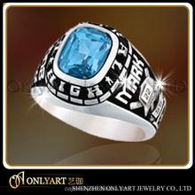 CZ black men fashion 316l stainless steel ring