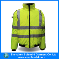 wholeslae safety clothing outdoor hi vis parka waterproof winter work suit