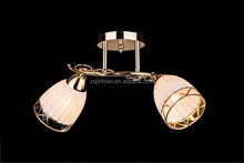 Cheap model ceiling light/Russian style glass chandelier gold color
