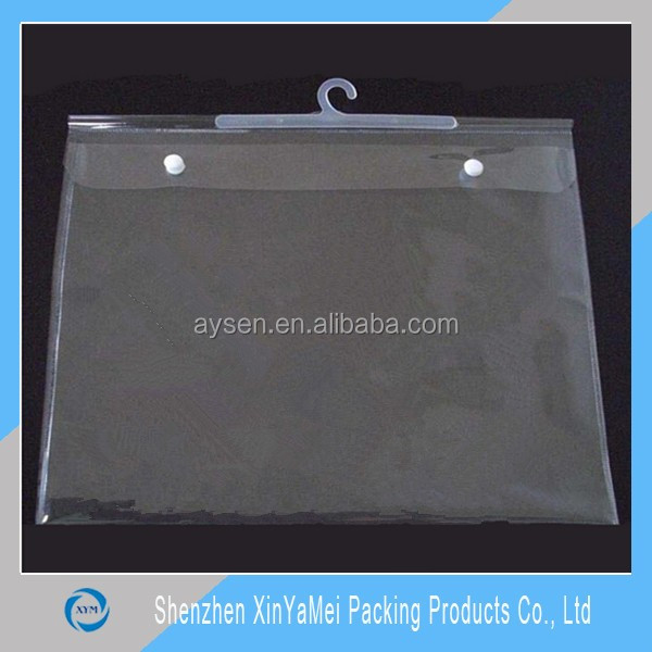 Clear Garment Bag with Zipper Pockets