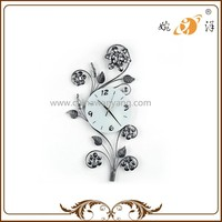 Hot Sale Dendritic Silvery White Nice Home Decor Wall Clock