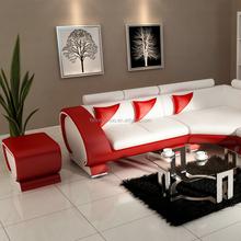 Luxury furniture sectional sofa leather, modern italian leather sofa 110C