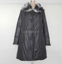 women winter coats, Fur collar long ladies thicken coats