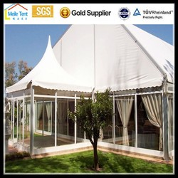 Luxury aluminum frame glass wall marquee garden PVC event party wedding tent for marquee
