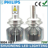 4 Colors Optional 3500lm 35W Ultra Bright HB1 P29T 9004 LED Philips Off-road Headlight