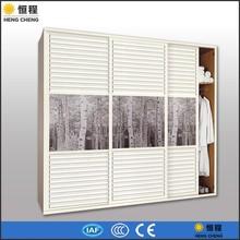 Louvered sliding closet doors PVC wardrobe doors