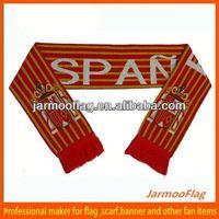 spain football knitted acrylic scarf